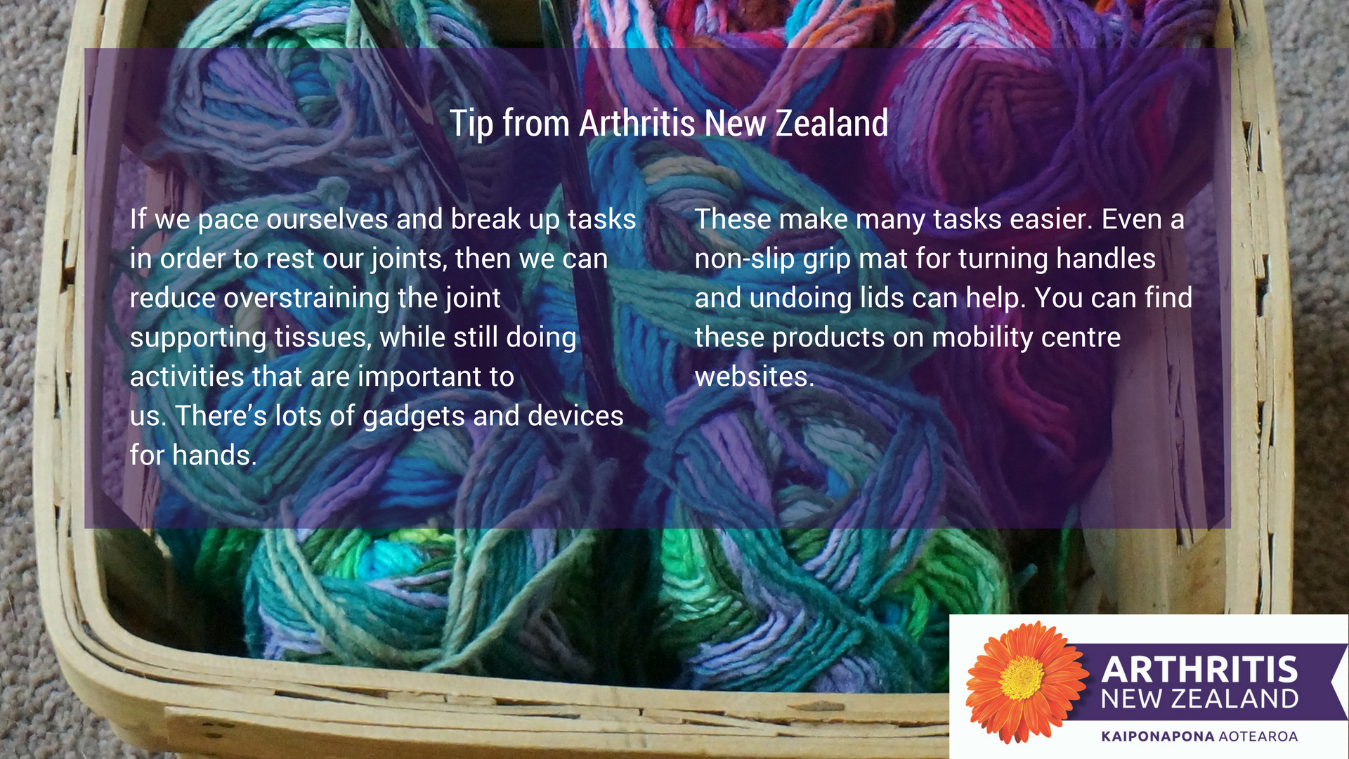 10 - Exercise tips from the Arthritis New Zealand community