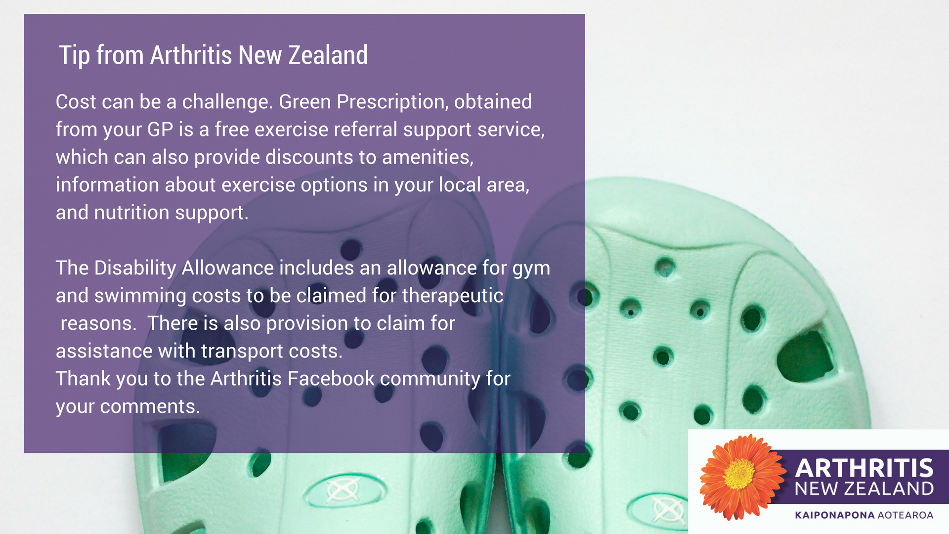 13 - Exercise tips from the Arthritis New Zealand community