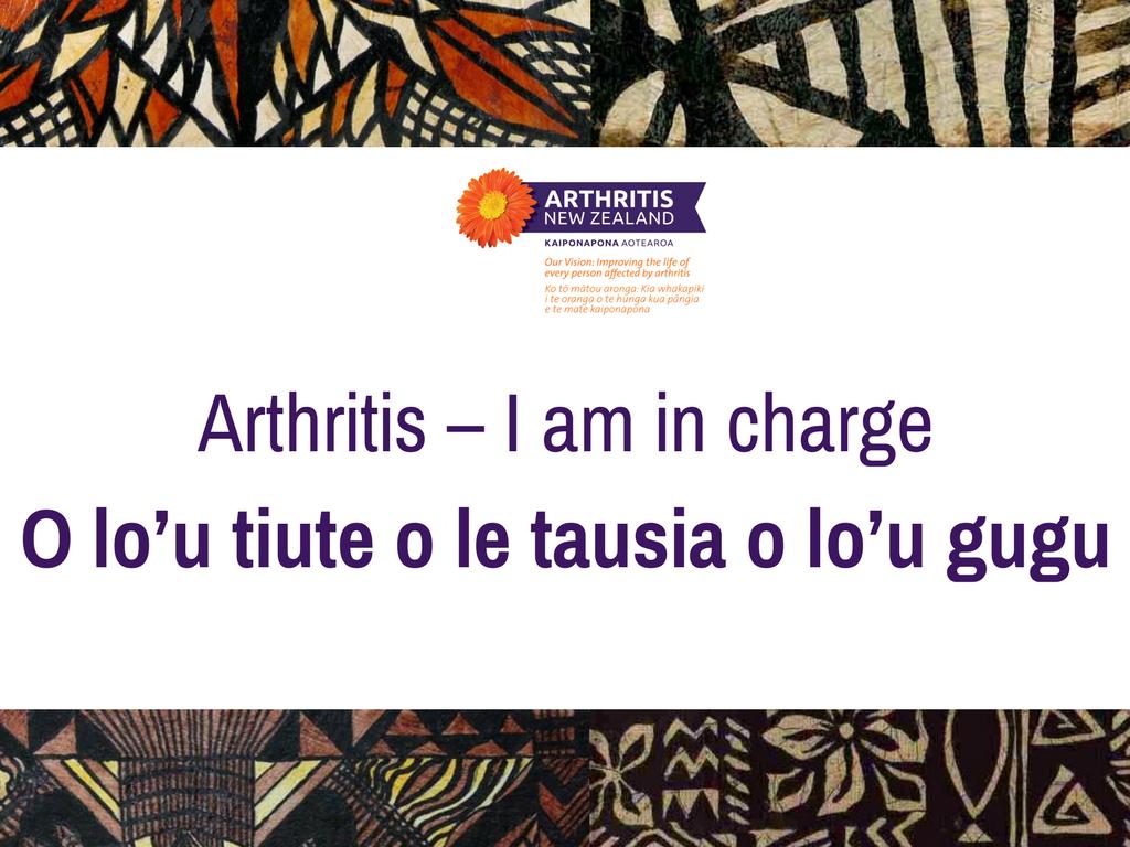 Samoan Language Week -Gout and Arthritis