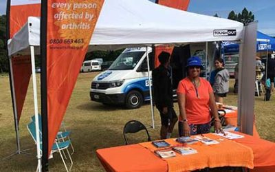Over 100 people sought information about arthritis at Waitangi Day celebrations