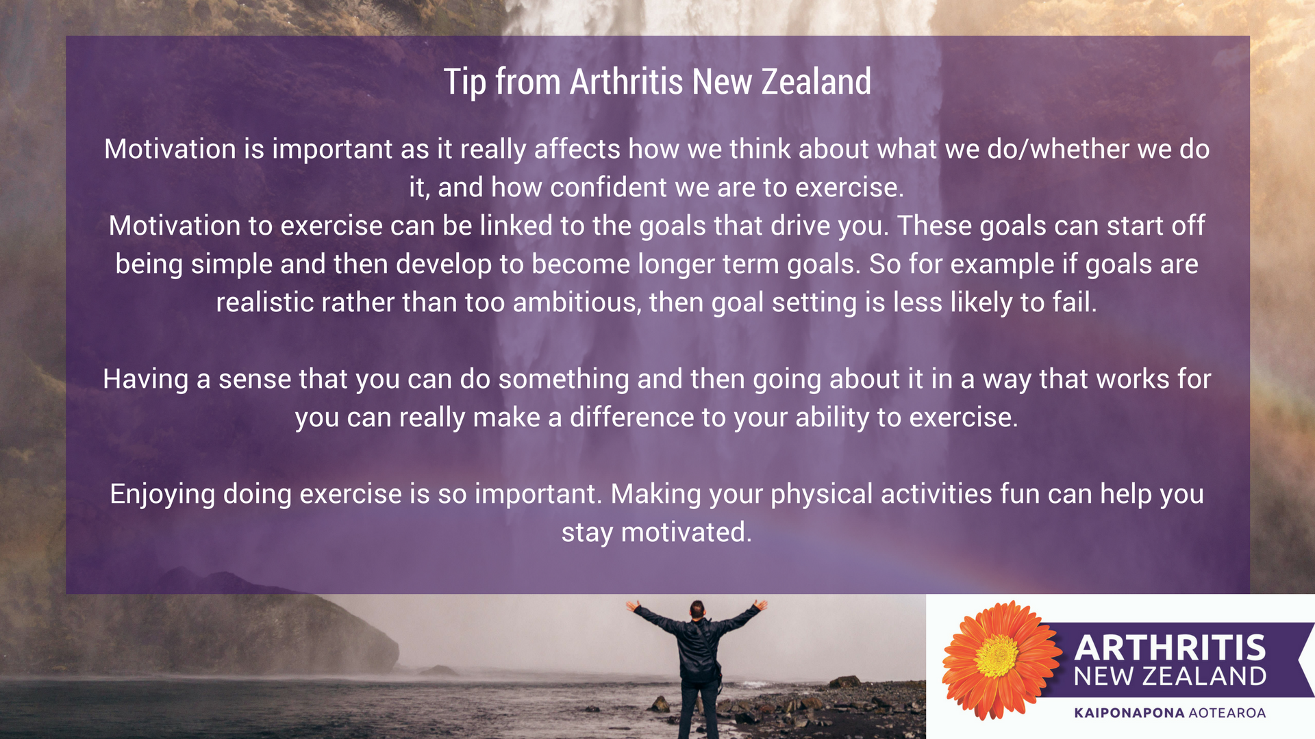 5 - Exercise tips from the Arthritis New Zealand community