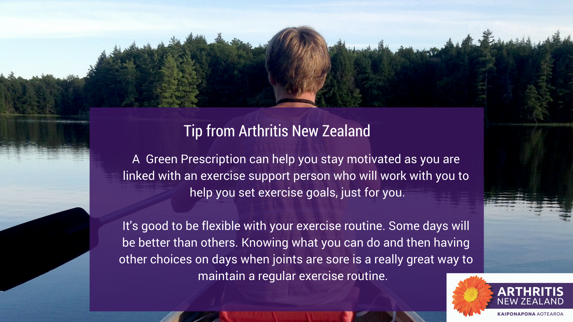 3 - Exercise tips from the Arthritis New Zealand community