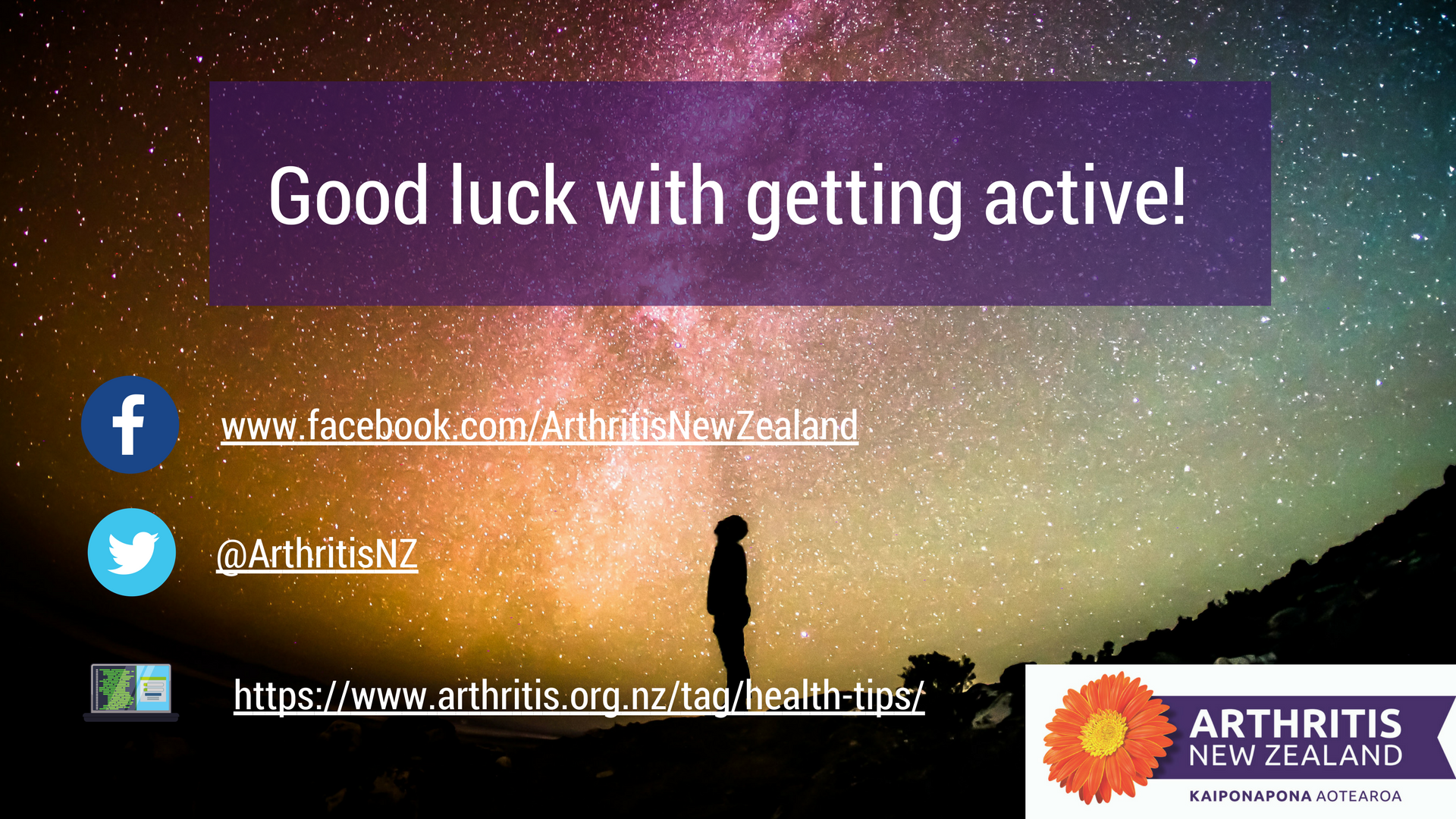 14 - Exercise tips from the Arthritis New Zealand community